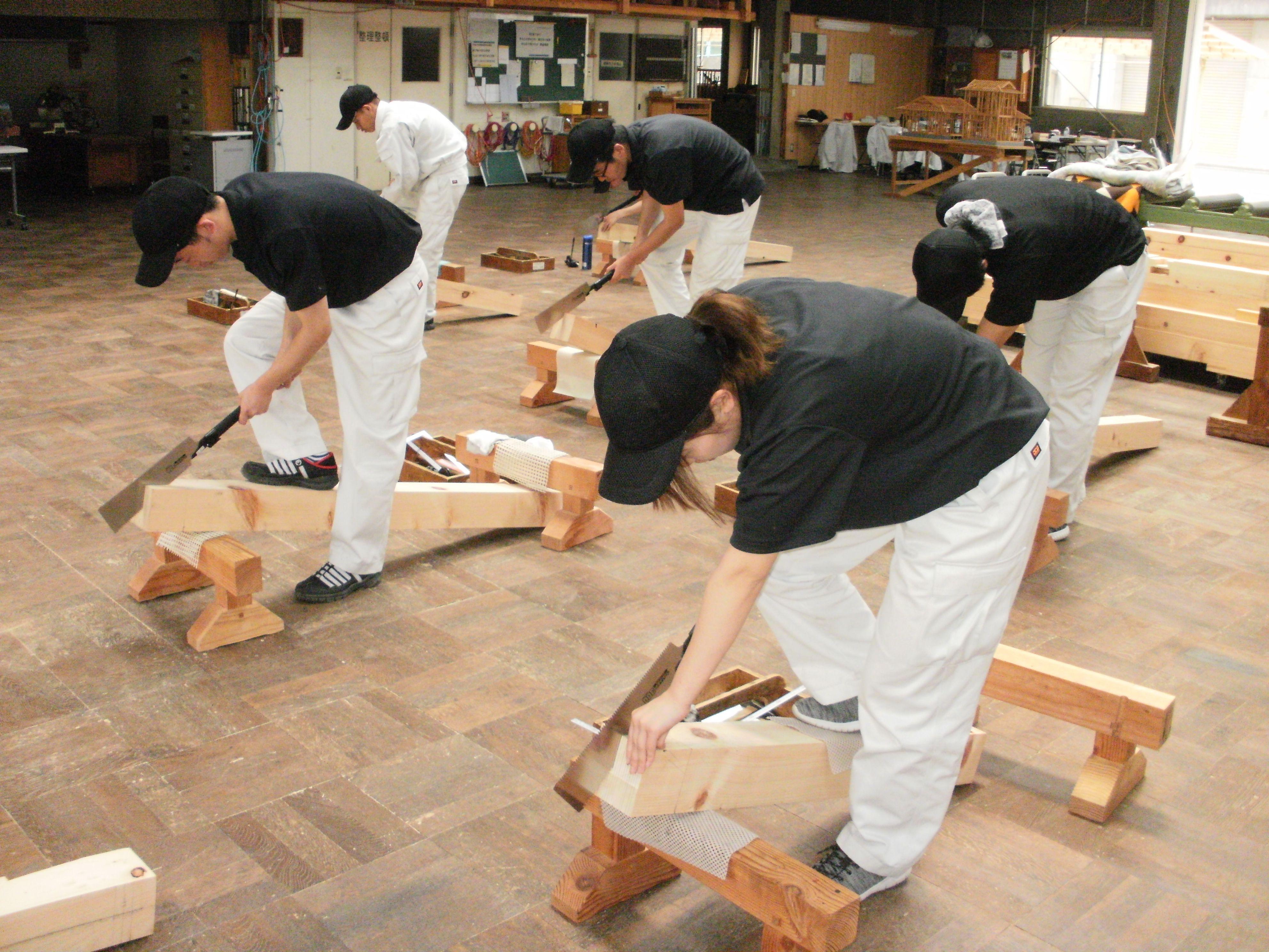 木造建築科手工具の取扱い